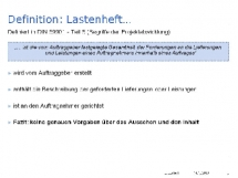 Definition: Lastenheft