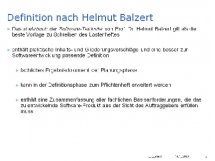 Definition nach Helmut Balzert